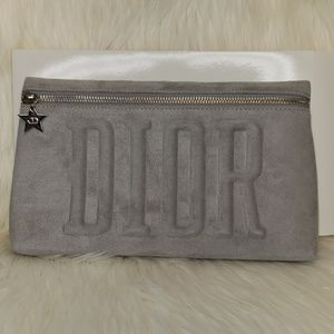 Brand new Suede Dior cosmetics Makeup pouch
